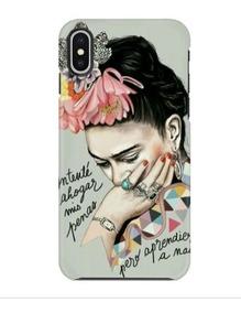 Funda Protector Iphone Frida Khalo Artista Mexicana Frase