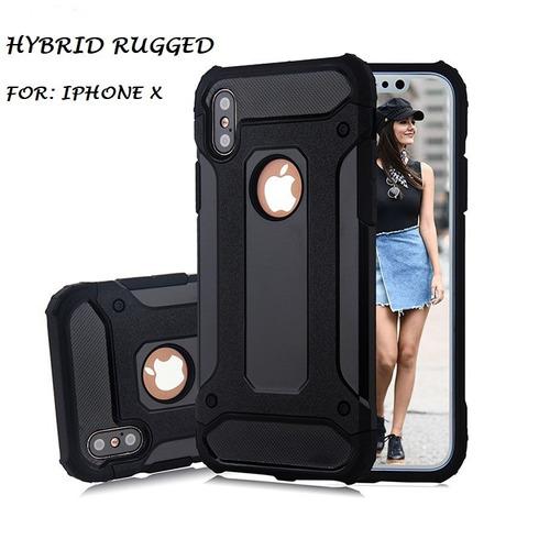 funda protector iphone x hybrid uso rudo  envio gratis