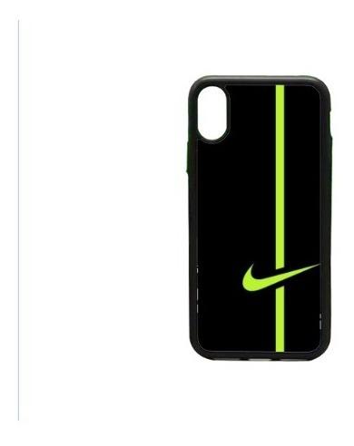 formación No puedo Mojado  Funda Protector iPhone X Xr Xs Xs Max Nike Negro Verde Raya - $ 313.50 en  Mercado Libre