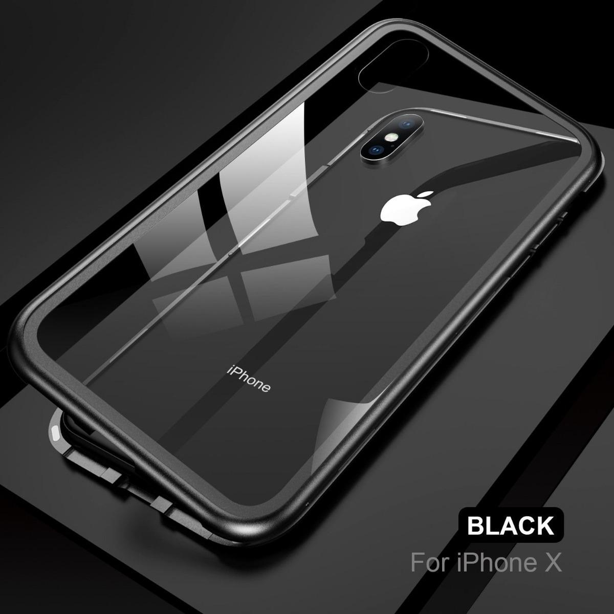 90145e5faa1 Funda Protector Magnetica Aluminio iPhone 6 7 8 Plus X Xs - $ 229.00 ...
