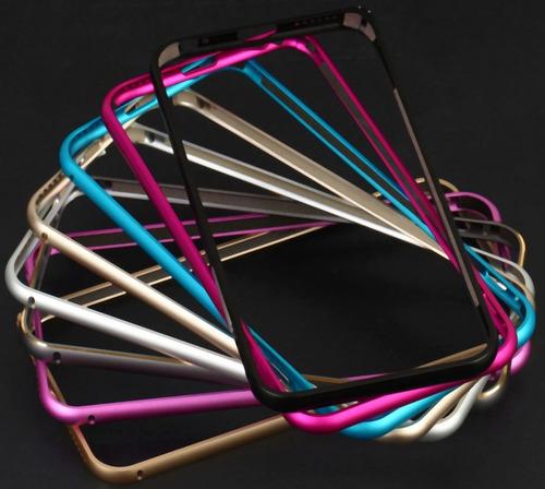 funda protector marco de aluminio iphone 7 6s 6 / 6 7 plus ®