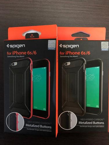 funda protector neo hybrid carbon para iphone 6 y 6s