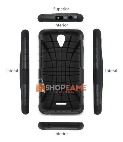funda protector resistente case uso rudo clip lanix l620