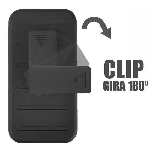 funda protector samsung a80  resistente rudo clip + cristal