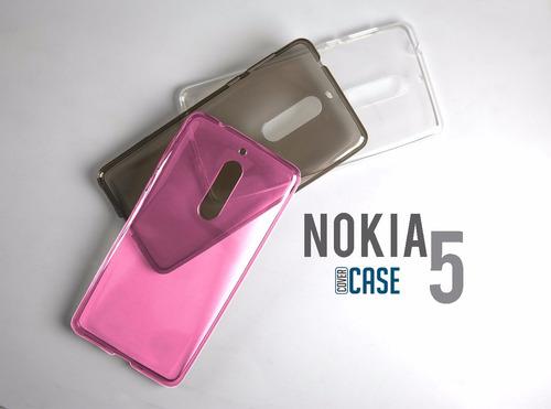 funda protector tpu crystal case flexible silicón nokia 5