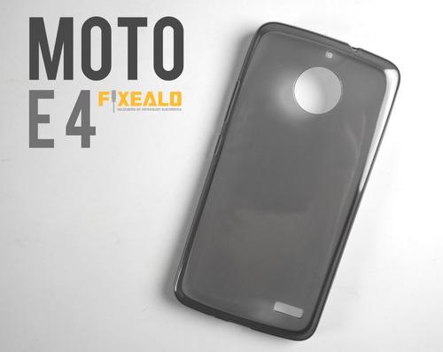 funda protector tpu crystal case transparente moto e4 / plus