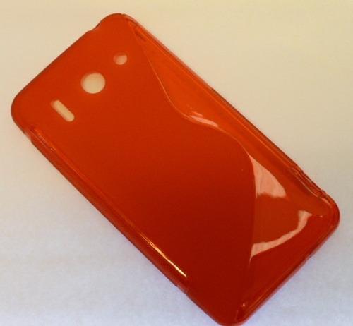 funda protector tpu huawei g510 rojo