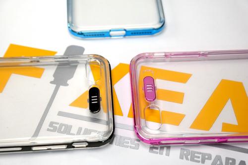 funda protector tpu ligth luz led brillante iphone 7 8 plus