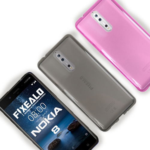 funda protector transparente crystal case flexible nokia 8