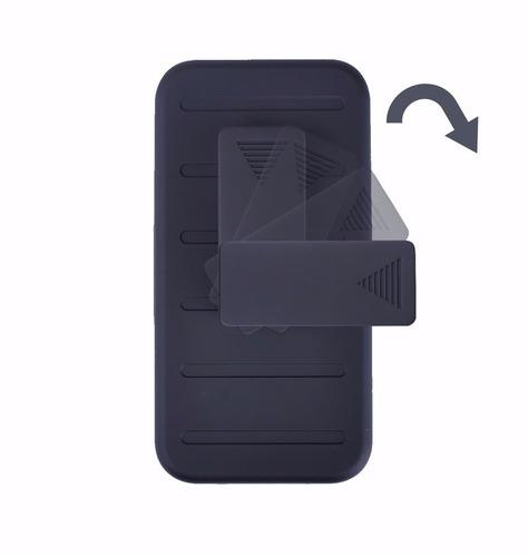 funda protector uso rudo 3 en 1 + cristal templado htc 530