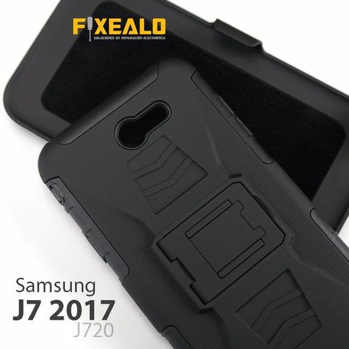 funda protector uso rudo case con clip samsung j7 2017 j727
