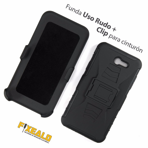 funda protector uso rudo clip case + cristal samsung j7 2017