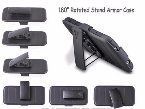 funda protector uso rudo clip tipo survivor lanix l1050