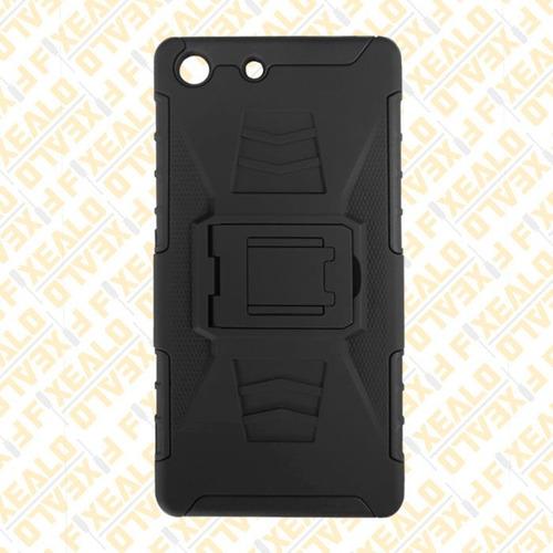 funda protector uso rudo con clip + cristal sony m5 e5603