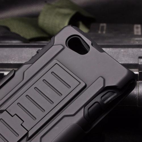 funda protector uso rudo con clip + cristal sony m5 e5606