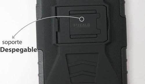 funda protector uso rudo + cristal alcatel idol 4 ot6055