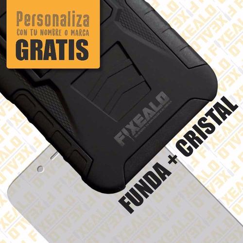 funda protector uso rudo + cristal huawei gr5 honor 5x l21