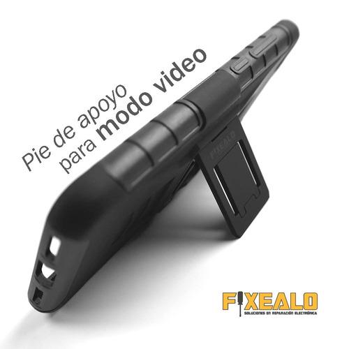 funda protector  uso rudo + cristal  moto z2 play / z2 force