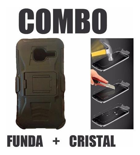 funda protector uso rudo + cristal templado  j1 mini j105