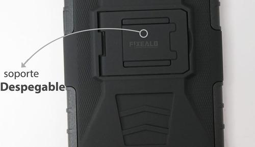 funda protector uso rudo + cristal templado sony c4 e5306