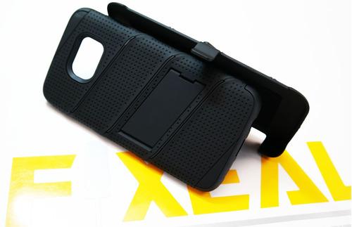 funda protector uso rudo lujo case + cristal samsung s7 edge