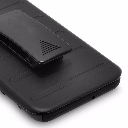 funda protector uso rudo resistente clip alcatel shine lite