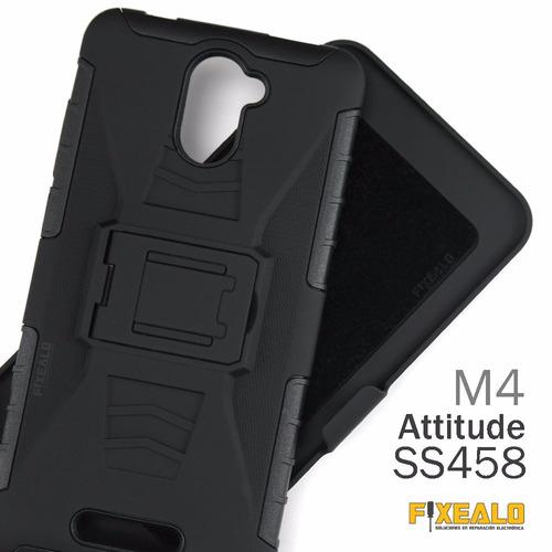 funda protector uso rudo resistente clip m4 attitude ss4458