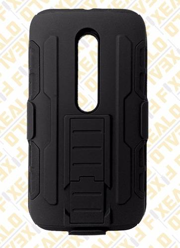 funda protector uso rudo resistente clip moto x style xt1572