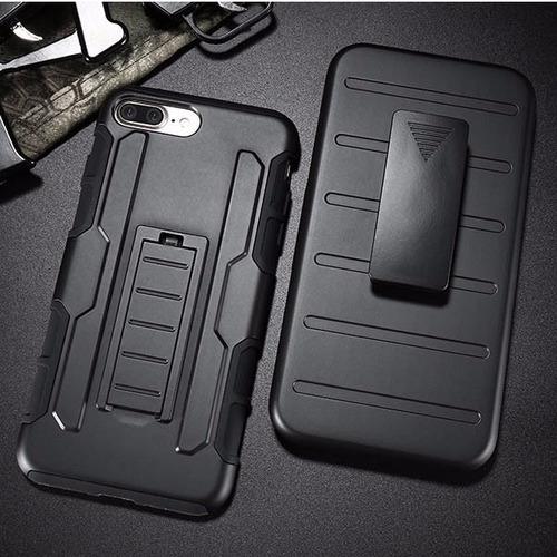 funda protector uso rudo resistente con clip iphone 7 8 plus