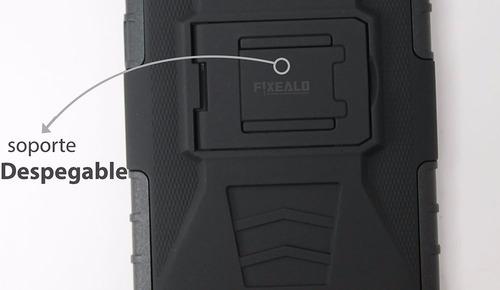 funda protector uso rudo resistente con clip moto e4 xt1768