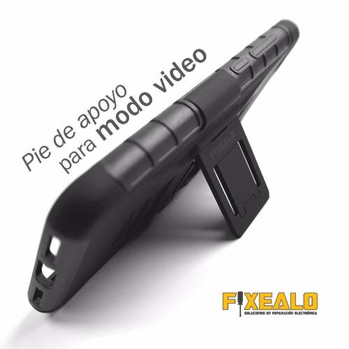 funda protector uso rudo resistente con clip zte a520