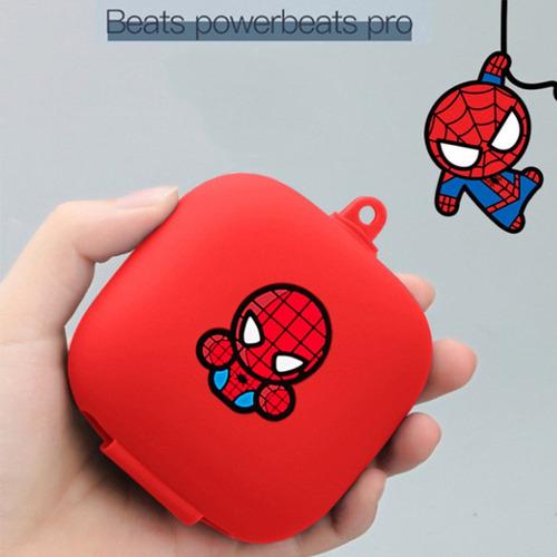 funda protectora completa de silicona powerbeats rojo