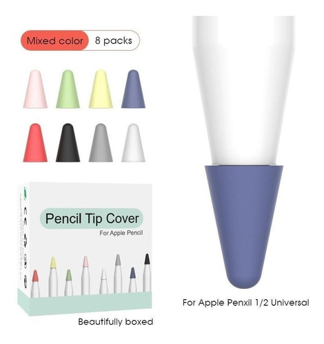 funda protectora en silicona para punta de apple pencil 1-2