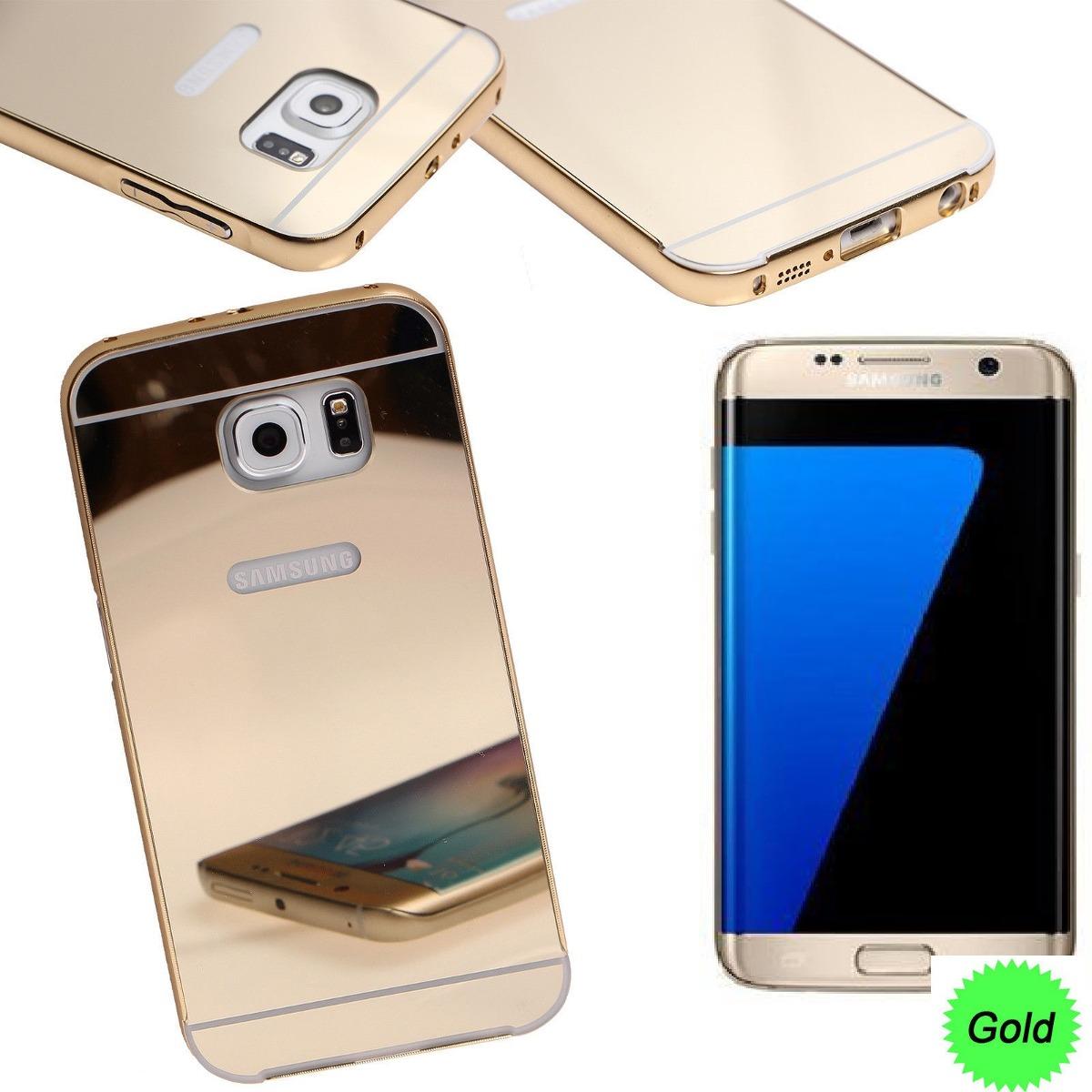 0a56b07667e Funda Protectora Galaxy S7 Metalica Dorada Aluminio - $ 499,00 en ...