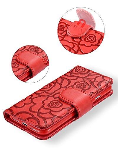funda protectora magnética con ranuras de tarjeta para iphon