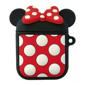 Funda Protectora Para AirPods Minnie Y Mickey Mouse