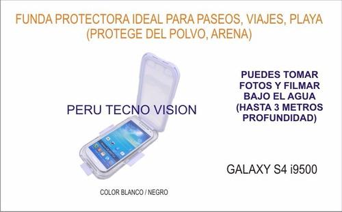 funda protectora para buceo (3 metros) samsung galaxy  s4