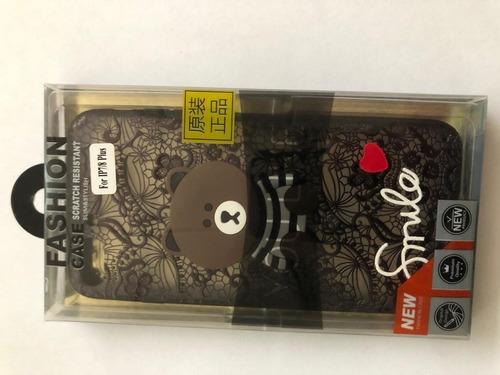 funda protectora plastico diseño oso smile iphone 7 8plus