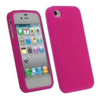 funda protectora silicona apple iphone 4 o iphone 4s rosa
