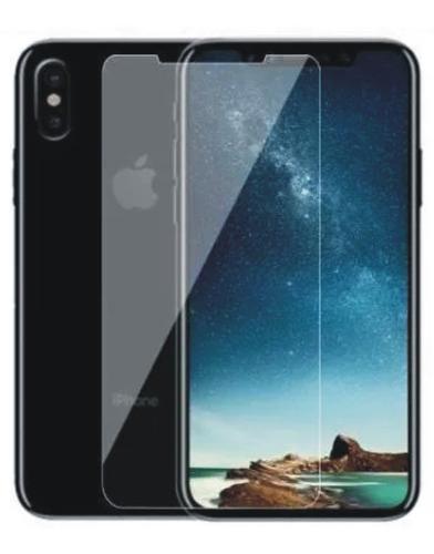 funda protectora silicona para iphone mas vidrio  x  10 soft