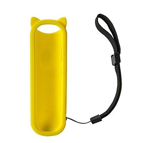 funda protectora suave linda del silicón amarillo para rc28