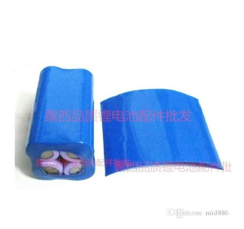 funda protectora termoretractil para 4 baterias 18650