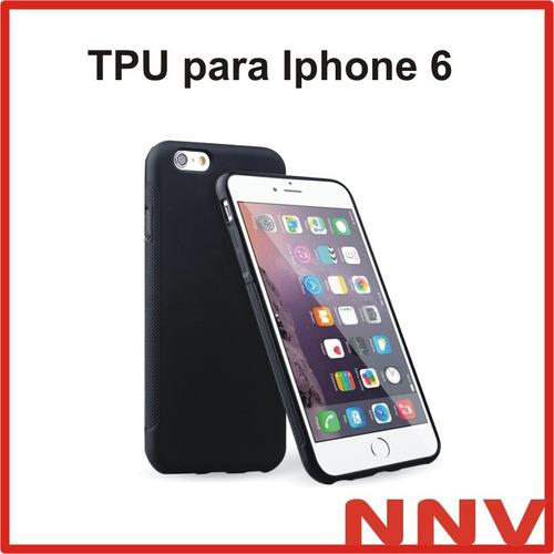 funda protectora tpu iphone 6 / 6s negro transparente nnv