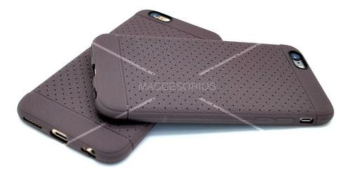 funda protectora tpu texturado bordo iphone 6 & 6s + vidrio