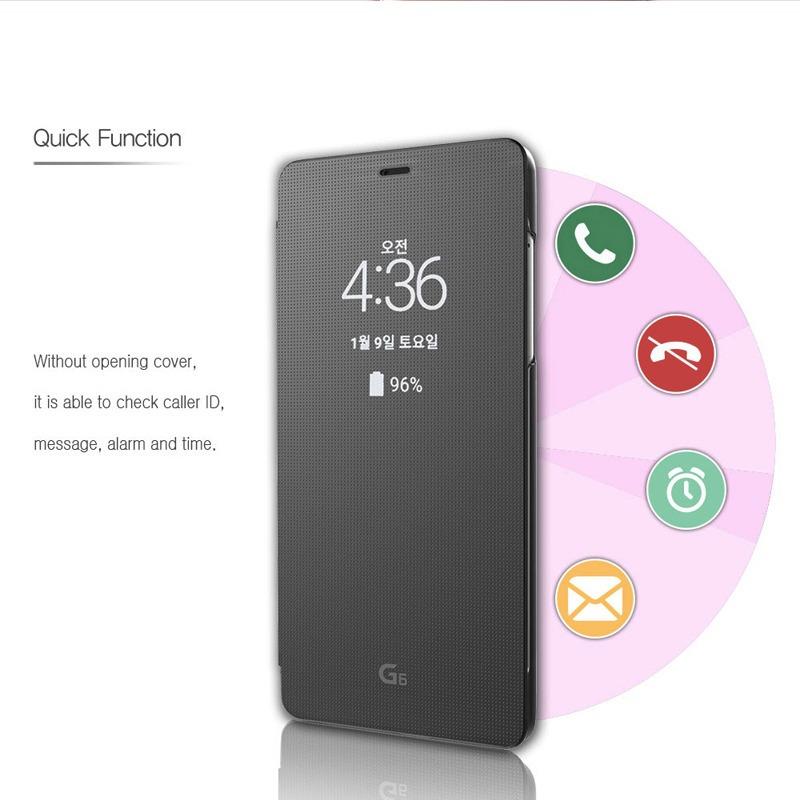 best cheap cf19f 4ca3d Funda Quick Case Flipcover Smart Lg G6 Goospery Con Sensor