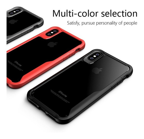 funda reforzada antigolpe iphone x  7 8 glass