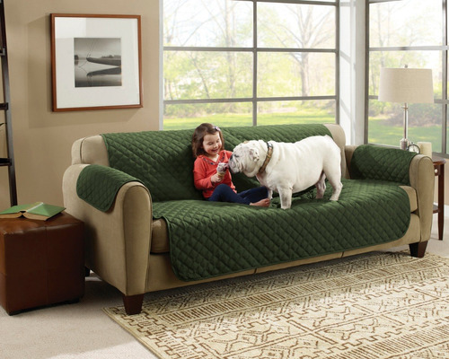 funda reversible protector de sillon couch coat 3 piezas