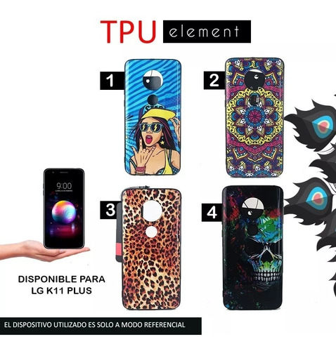 funda rigida diseños tpu lg k11 plus alpha + templado