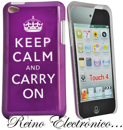 funda rigida keep calm... para ipod touch