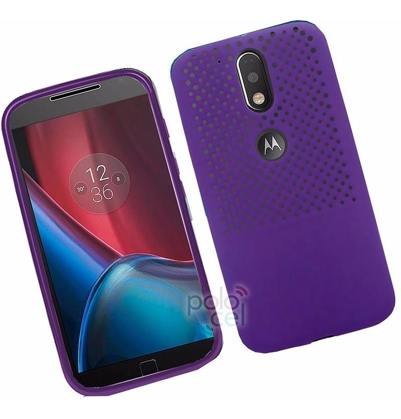 ac60b3b0f83 Funda Rigida Mesh Motorola Moto G4 G4 Plus + Vidrio Templado - $ 499 ...